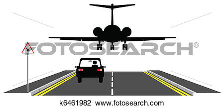 Clipart of Low flying aircraft k6461982.