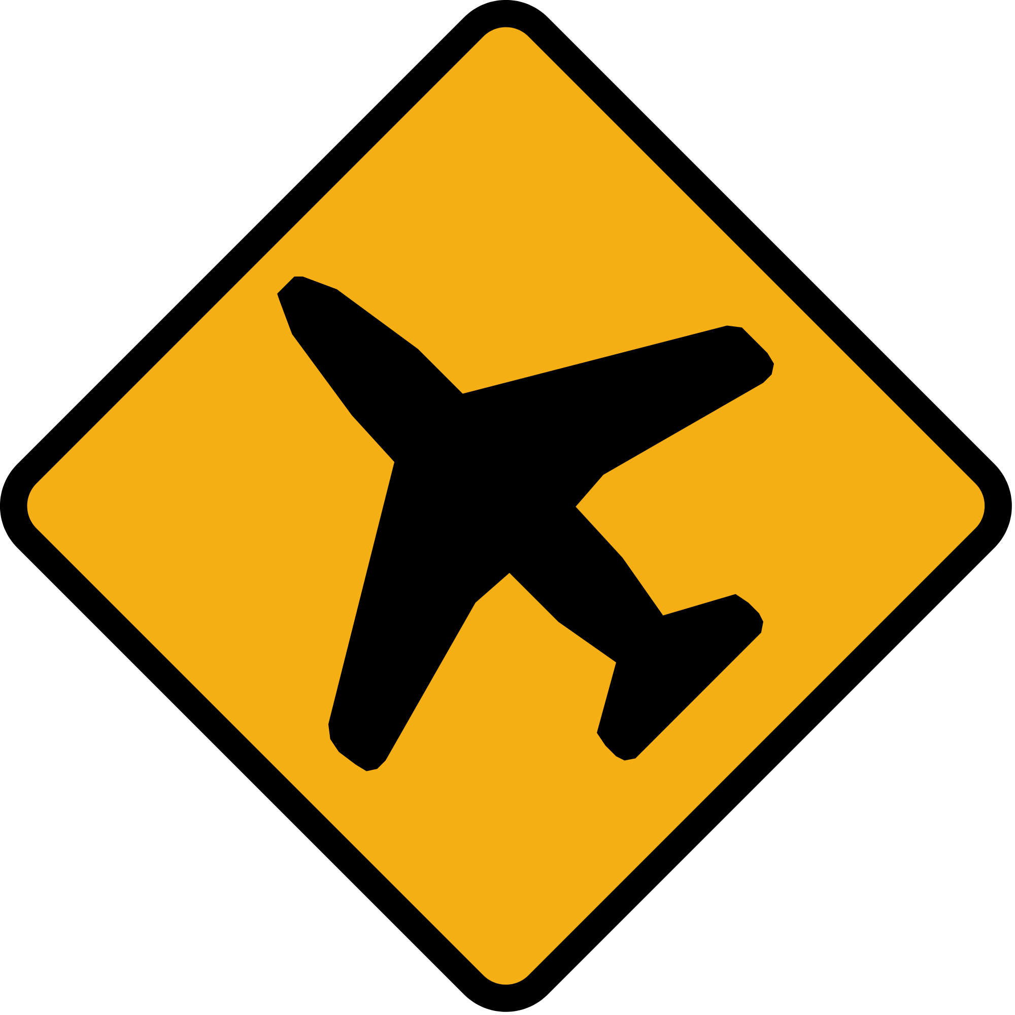 File:Diamond road sign low flying aircraft.svg.