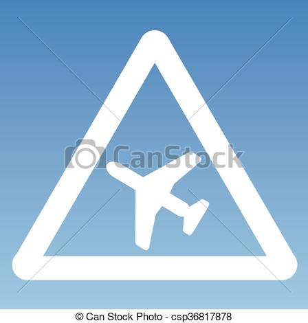 Vectors Illustration of Low Flying Aircraft Warning Ghostly Road.