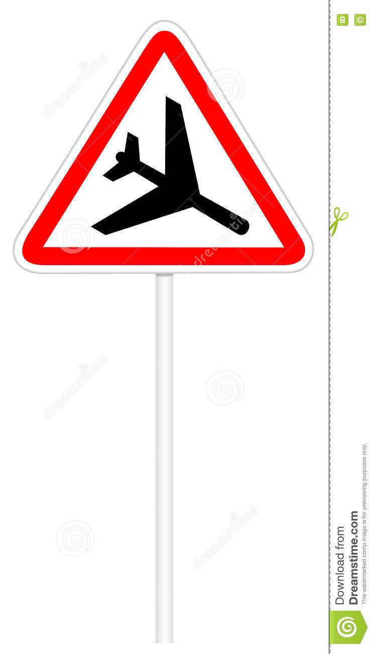 Warning Traffic Sign.