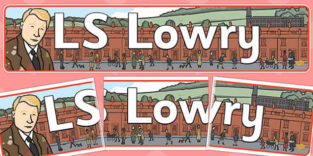 LS Lowry Photo Clip Art Pack.