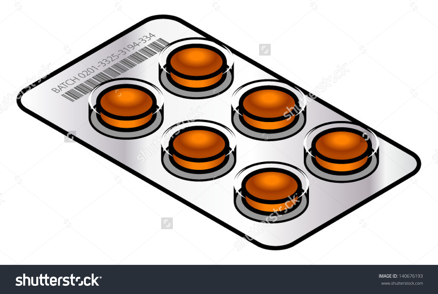 Blister Pack Coughthroat Lozenges Stock Vector 140676193.