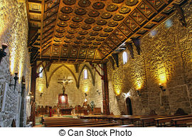 """Imágenes de """"buitrago, De, madera, iglesia, interior, lozoya."""