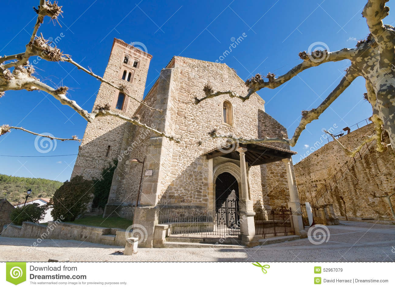 Ancient 14th Century Church Santa Maria Del Castillo In Buitrago.