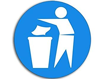 Amazon.com: LPF USA Magnet Round Throw Away Trash Logo.
