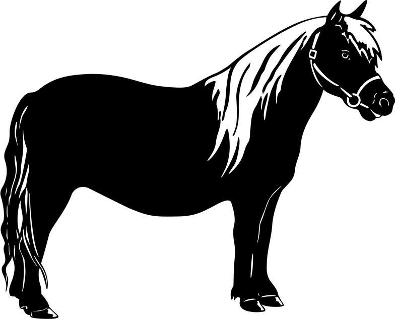 Pony Clip Art On Farm.