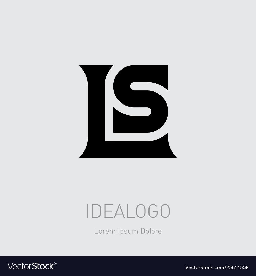 L and s initial logo ls initial monogram logotype.