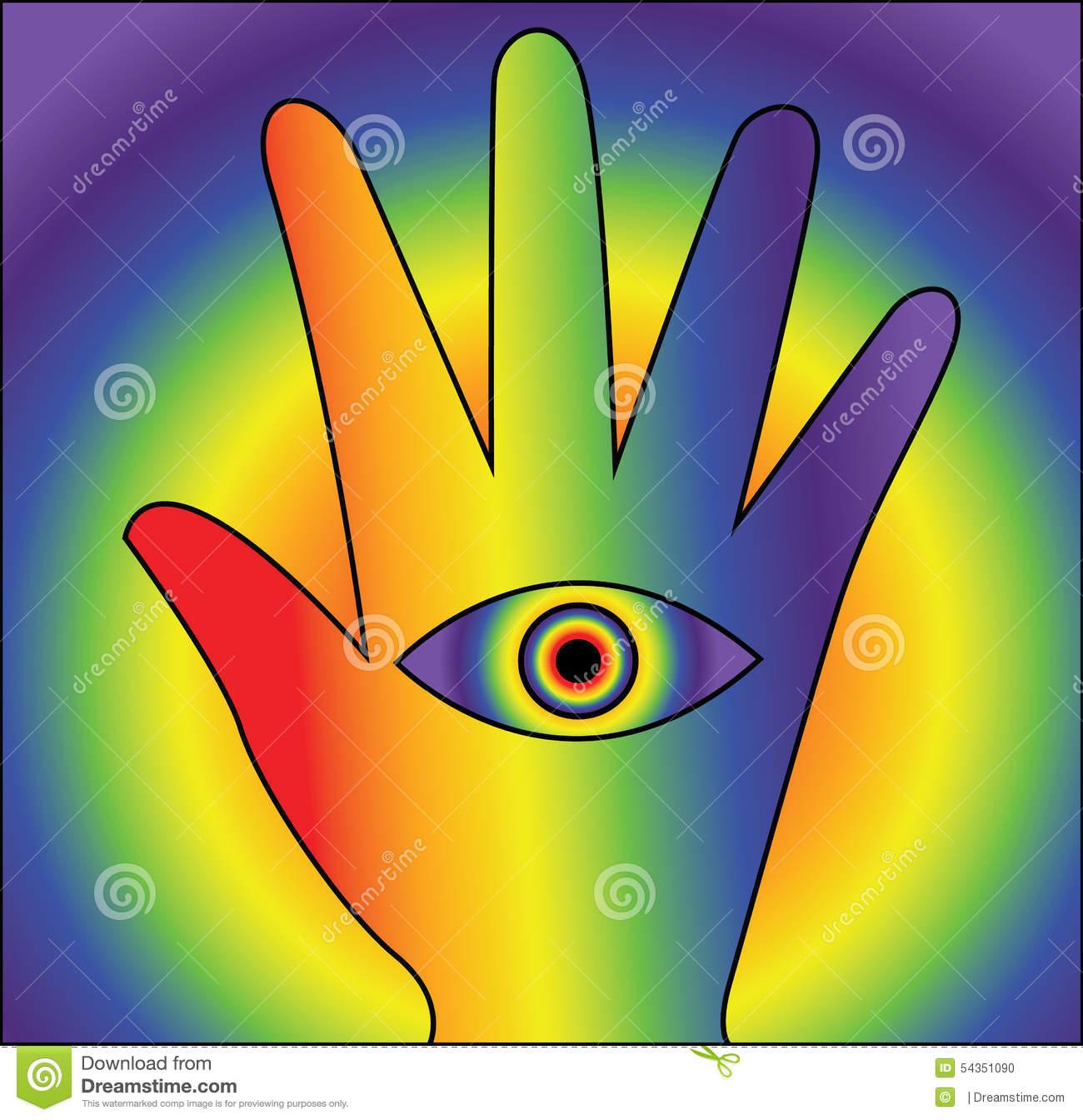 Lsd Hand Seeing Stock Illustration.