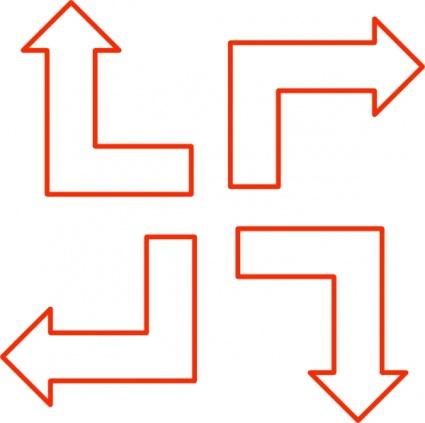 L Shaped Arrow Set, Cliparts.