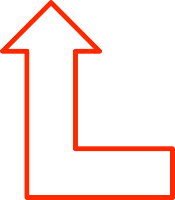 L Shape Arrow Pointing Up.