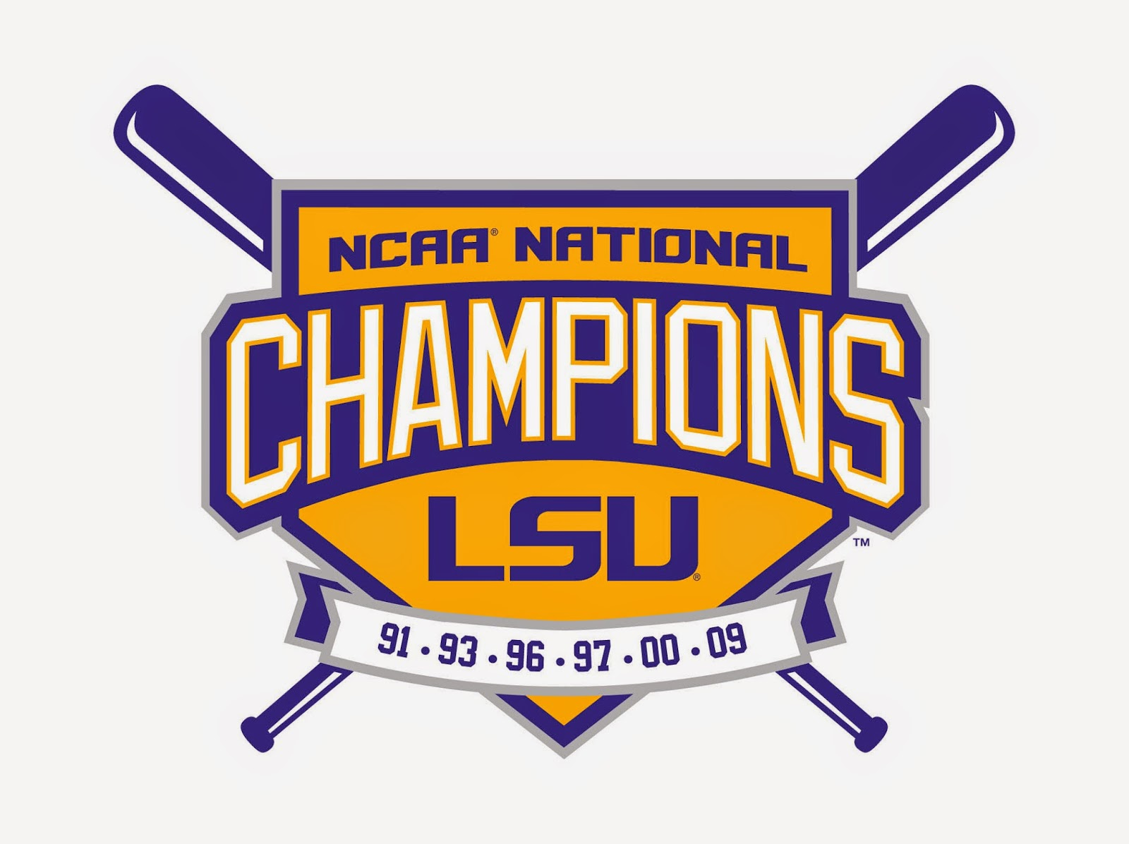 Clipart of LSU Tigers Baseball Logo free image.