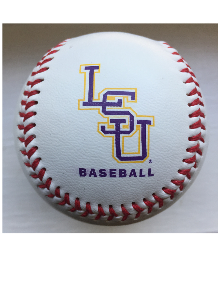 LSU Tigers Baden Team Logo Leather Baseball.