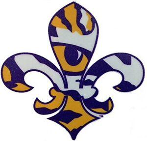Details about LSU TIGERS, MEDIUM PREMIUM VINYL DECAL, TIGER EYE, FLEUR DE  LIS LICENSED NCAA.