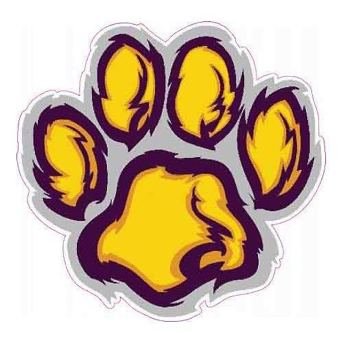 6 Purple Gold Tiger Paw Vinyl Decal LSU Perfect Harmonious.