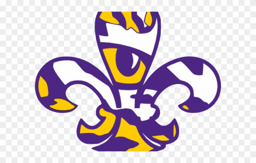 Lsu Tiger Face Svg Clipart.