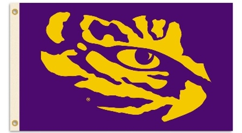 Details about LSU Tigers 35215 PURPLE Eye Logo 3x5 Flag Banner Louisiana  State University.