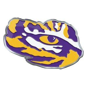 Details about LSU Tigers CE4 Alternative Logo Auto Emblem Chrome Louisiana  State University.