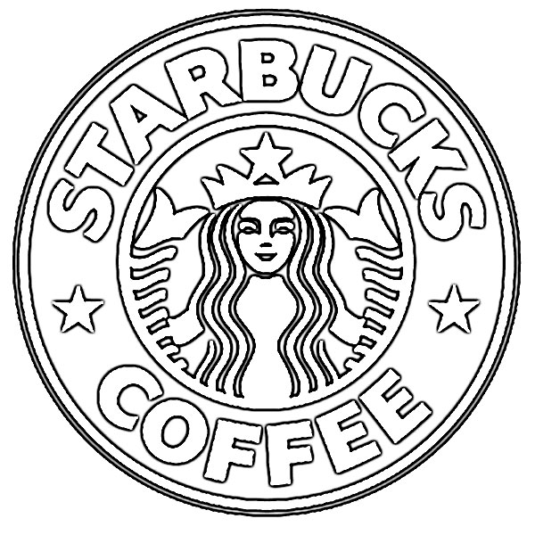 Starbucks Cup Black And White Clipart.