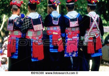 Stock Photography Of Laos Luang Prabang Hmong Tribe New Year S Eve.