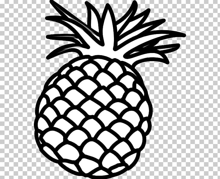 Pineapple Black And White Luau PNG, Clipart, Artwork, Black.
