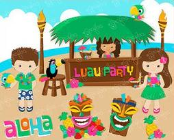Free Luau Party Clipart.