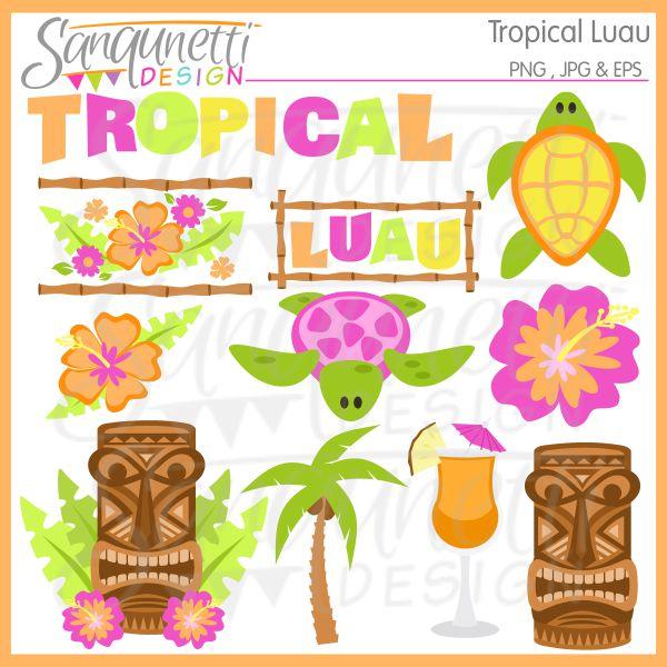 Luau Food Clipart.