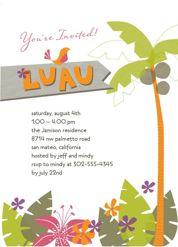 luau party invitation template free - Etame.mibawa.co