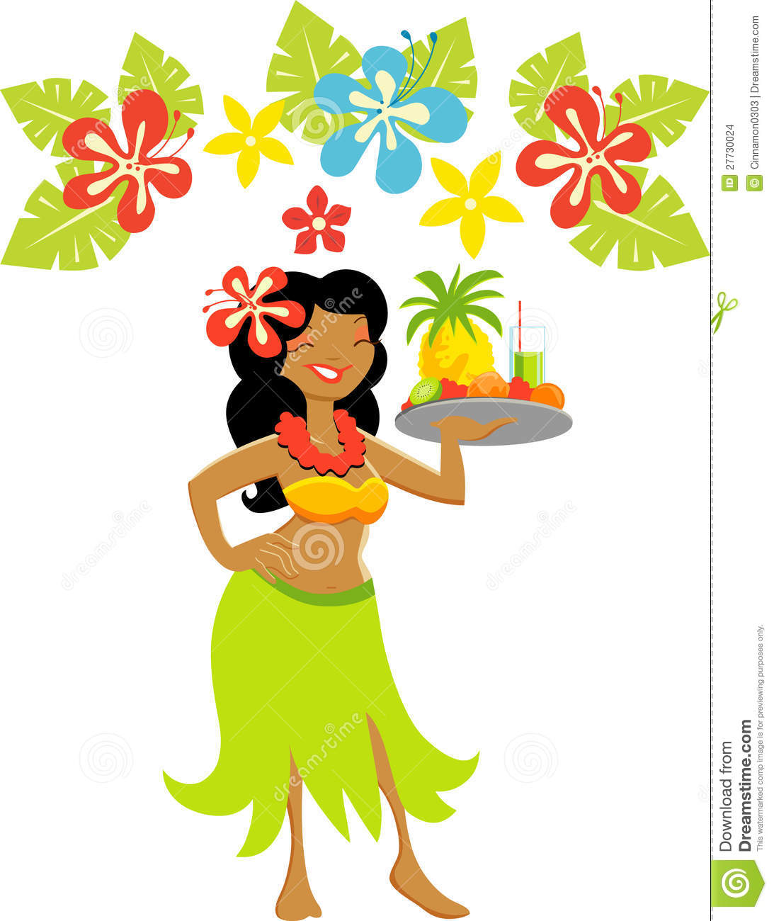 Hawaii Luau Girl.