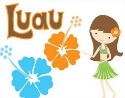 Free luau party clipart 2.