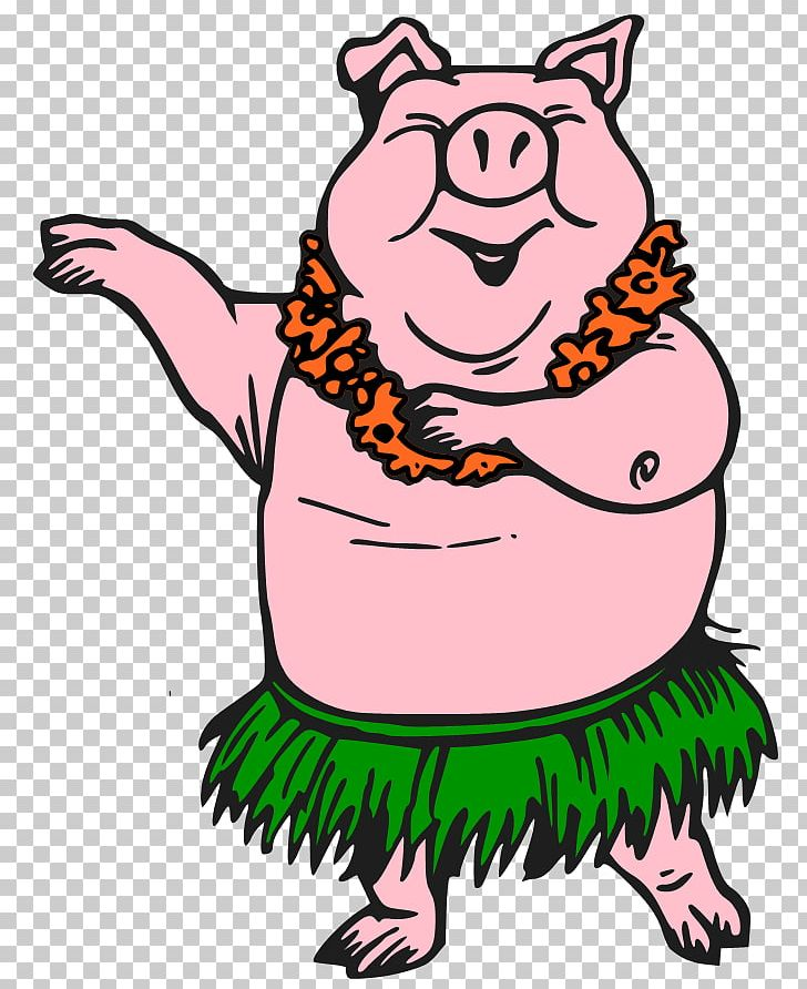 Pig Hula Dance Art PNG, Clipart, Animals, Animation, Art.