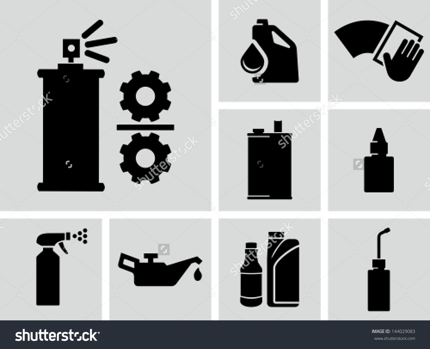 Lubricants Vector Icons Stock Vector 144029083.