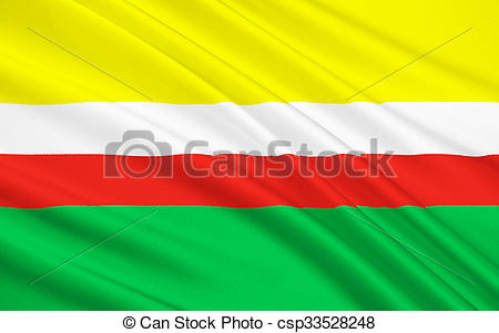 Drawing of Flag of Lubusz Voivodeship in western Poland.