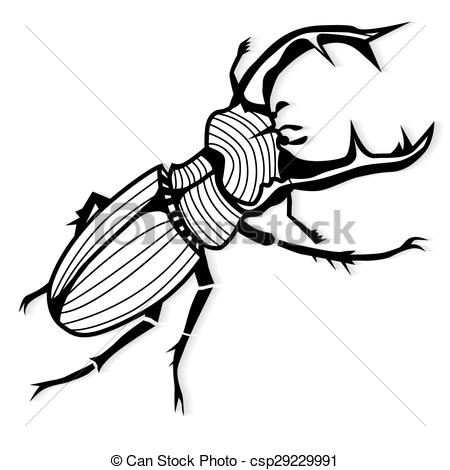 EPS Vectors of Male stag beetle, Lucanus cervus vector tattoo or.