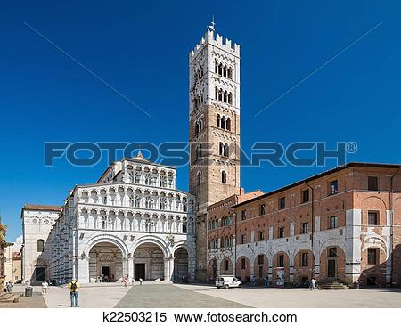 Stock Image of Church San Martino in Lucca, Tuscany region, Italy.