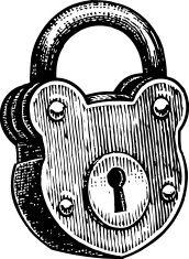 Lock, lucchetto, apparecchiature di sicurezza vector art.