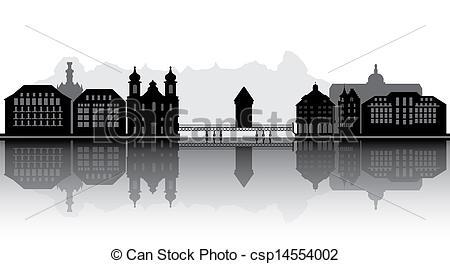 Stock Illustration of luzern skyline csp14554002.