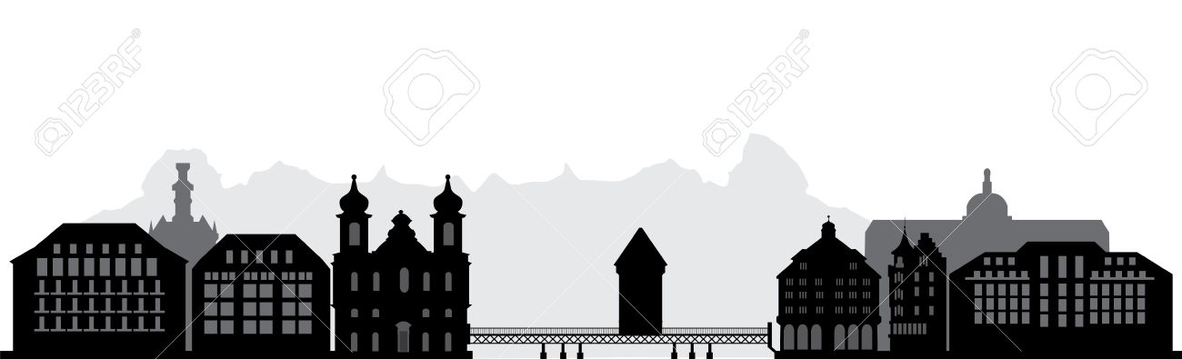Luzern Skyline Royalty Free Cliparts, Vectors, And Stock.