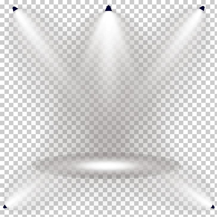 Línea de luz simetría ángulo patrón, luces de escenario.