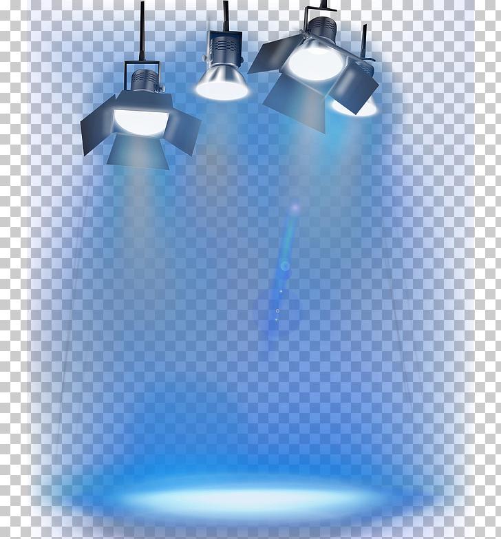 Iluminación de escenario, cuatro luces de escenario.