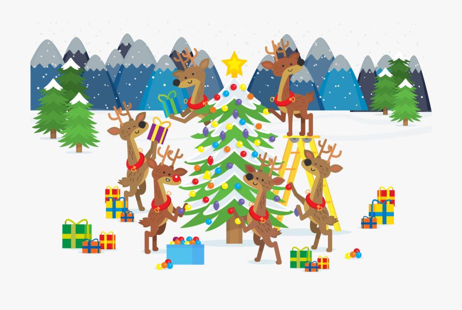 Luces De Navidad Vector Arbol , Transparent Cartoon, Free.