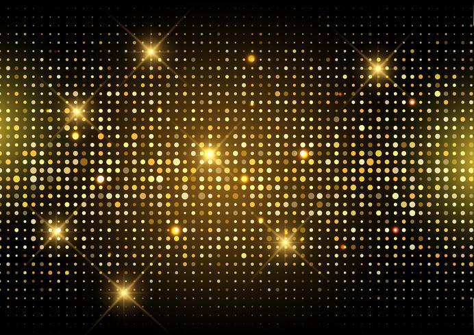 Glitter gold disco lights background.