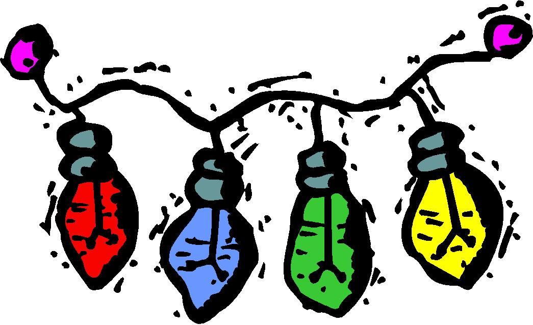 Las luces de navidad Clip Art Gif.