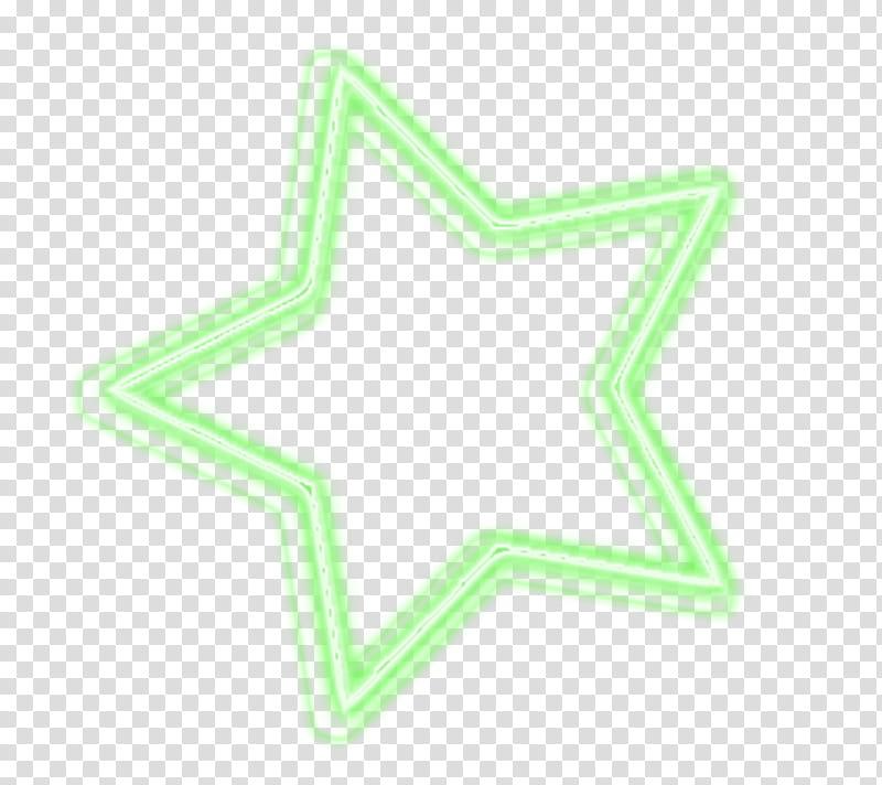 Luces de neon, teal star illustration transparent background.