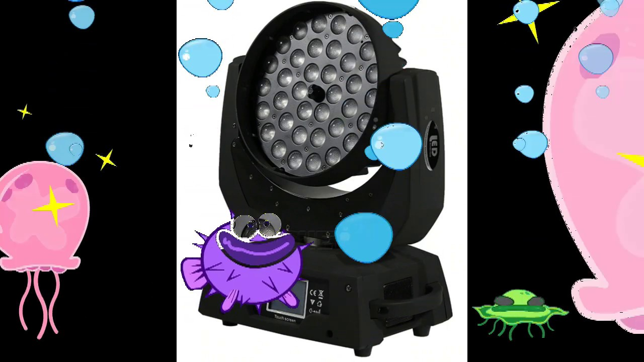 Best DMX LED Wash Zoom Moving Head Light 36x18W RGBWA+UV 6IN1.