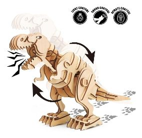 Puzle Robotime 3d En Madera Dinosaurio Luces Tsuy.