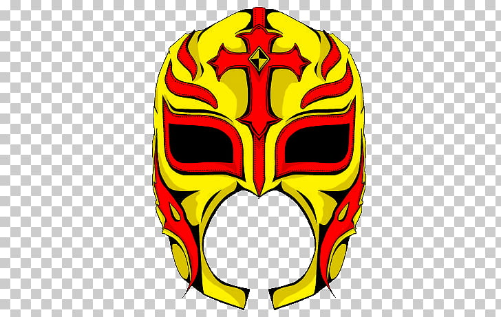 Drawing Mask WWE Professional Wrestler Lucha libre, Sheet.
