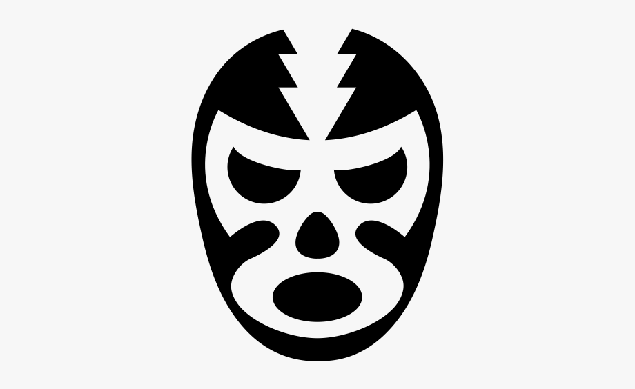 Luchador Mask Rubber Stamp.