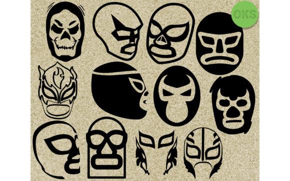 Luchador Mask Svg Vector Clipart.