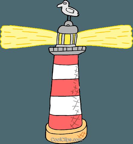 Leuchtturm Vektor Clipart Bild.
