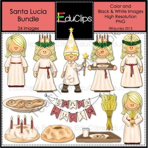 Santa Lucia Clip Art Bundle from Educlips on TeachersNotebook.com.